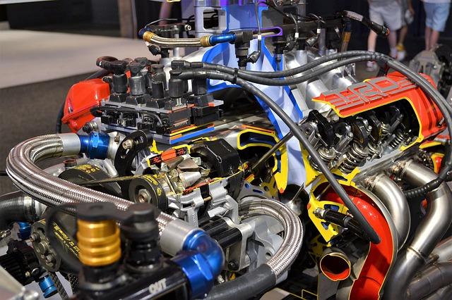 motor závodního vozu